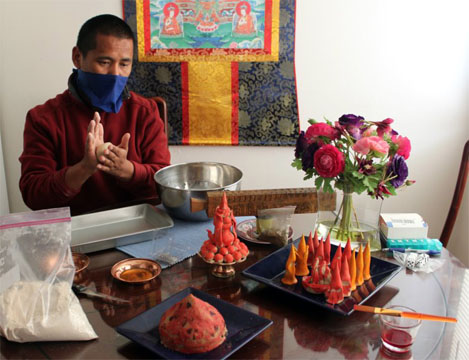 Tenzin Yangton preparing for lalu chilu edited