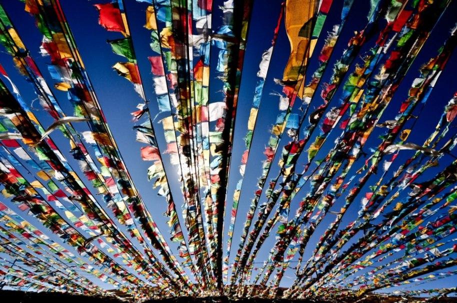 prayer flags in sky 2
