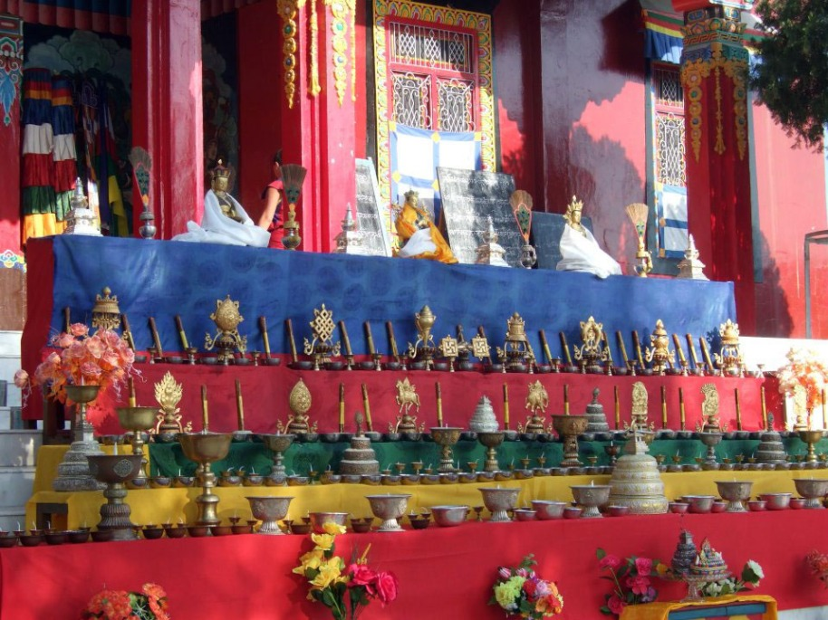 Losar Altar at Menri 2013