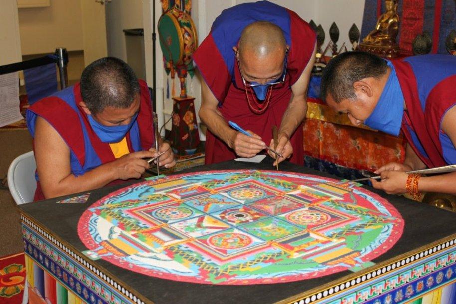 sadak Nyelam sand mandala by Tenzin Yangton & Chaphur 2012