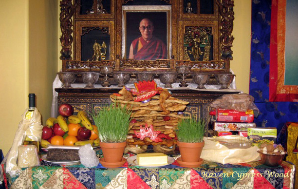 Losar shrine table copy