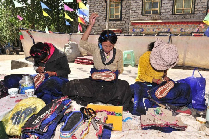 Making Tibetan Boots 1