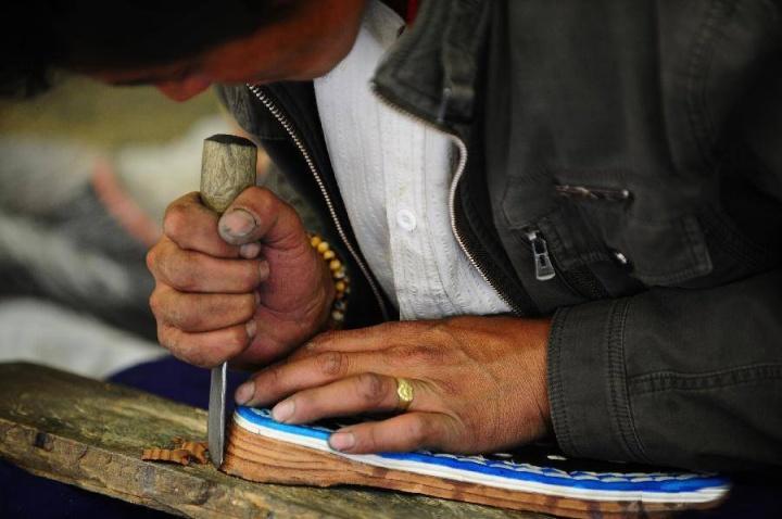 Making Tibetan Boots 2