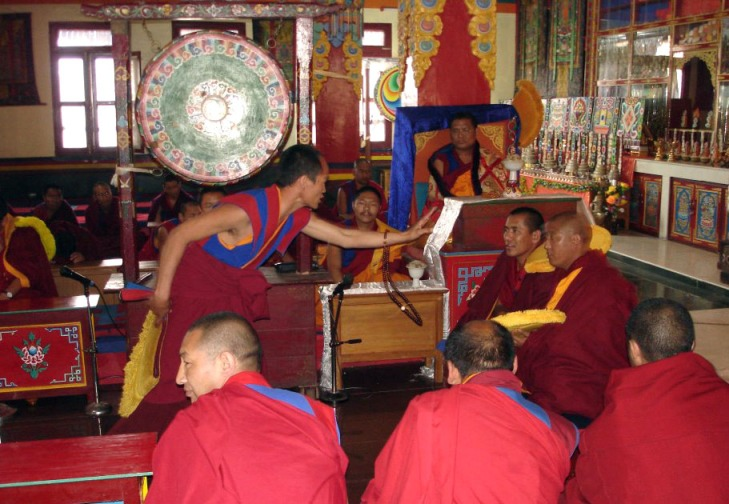 Tenzin yangton debating for geshe degree