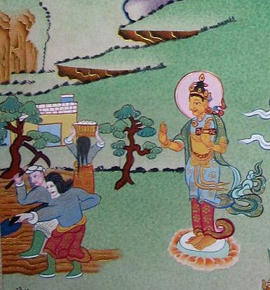 Buddha Drajin Donpung, Buddha of the human realm
