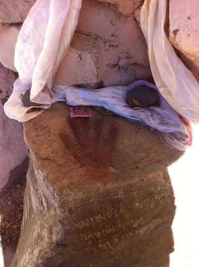 Nyamme Sherap Gyaltsen handprint