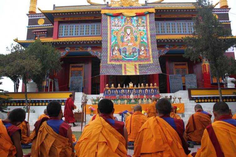 Nyamme Sherap Gyaltsen thankgha during celebration 2013