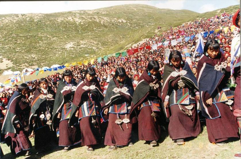 Dolpo women dancing during Himalayan Losar 2015