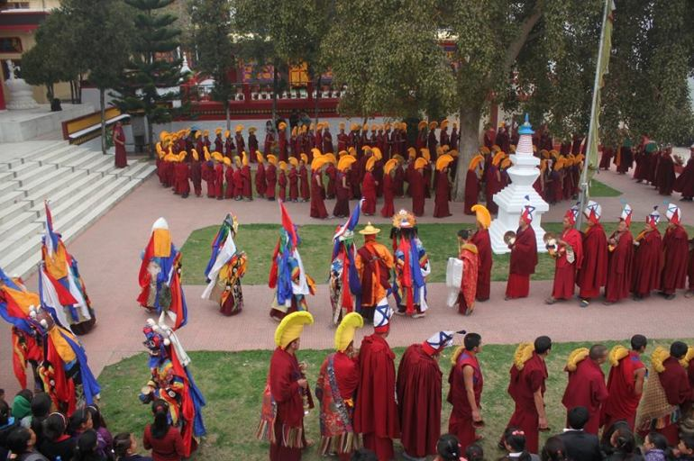 cham at Menri Losar 2015