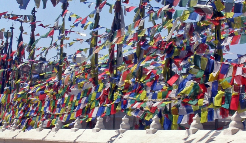 Prayer flags at Boudha