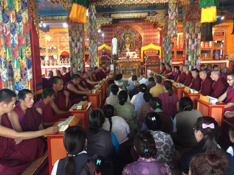 Sipa Gyalmo ritual bumtsok for HH Sept 2015